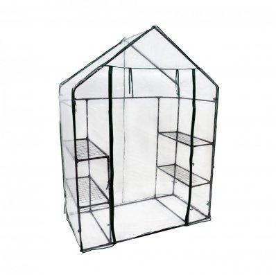 (RL113) 3-Tier 4 Shelf Mini Walk-in Growhouse Garden Greenhouse Our 3-tier Grow House p...