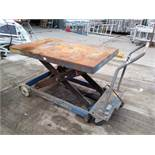 Mobile Hydraulic Table Lift 1250kgs