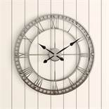 Laurel Foundry, Melody Oversized Metal Round 80cm Wall Clock RRP £76.99 (PACH7817 - 13652/9) 3C