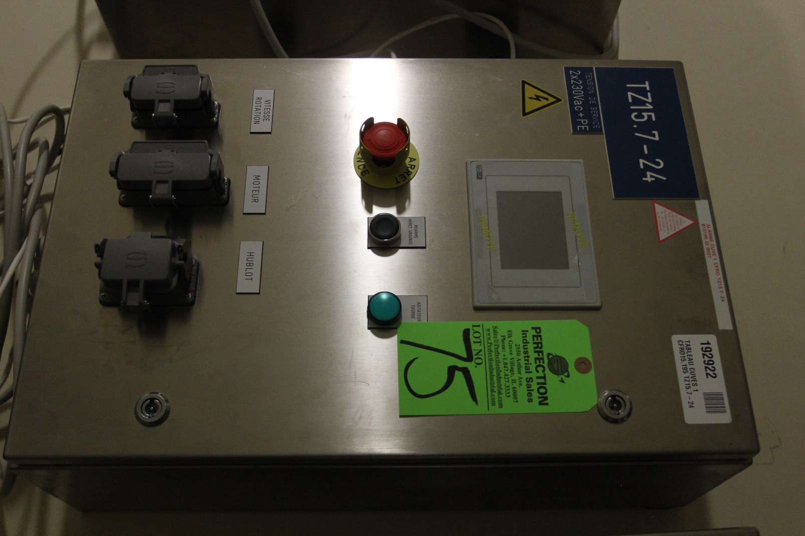 Lot 75 - Siabt UniOp PLC Control for Vessel