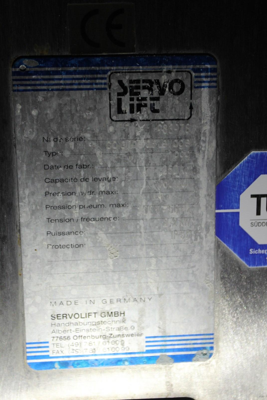 Lot 118 - 1999 Servo Lift Colonne de Levage (Lifting Column), s/n 983978, 250 kg Capacity, 160 bar Max Hyd