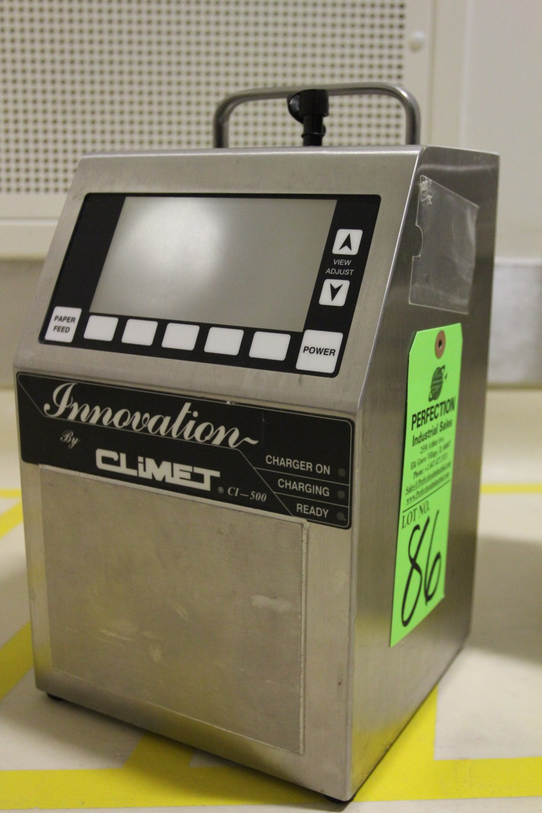 Lot 86 - 2009 Climet Innovation CI 500A Portable Laser Particle Counter, s/n 033773, Particle Sizes from .3mm