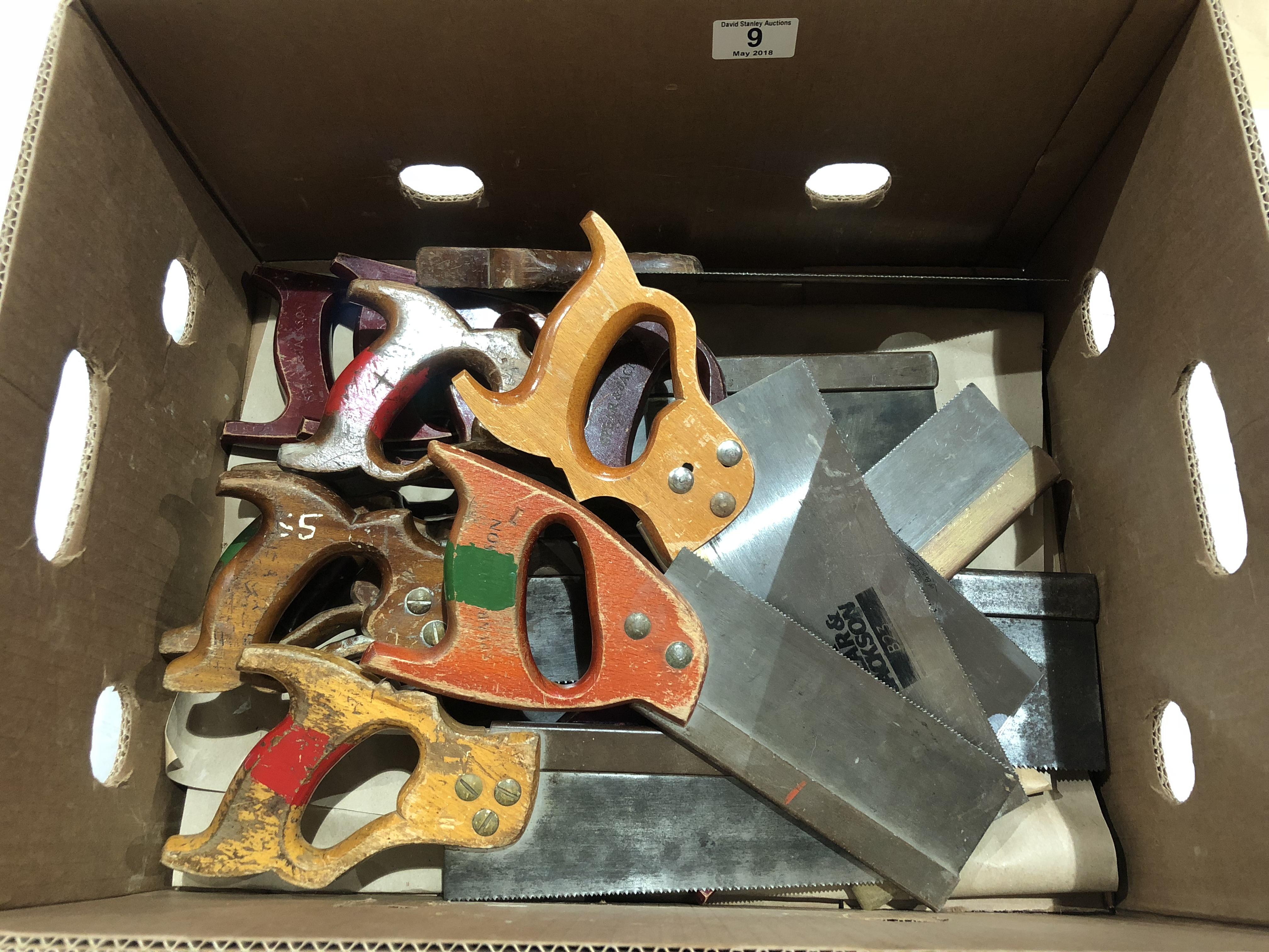 Lot 9 - 13 tenon saws