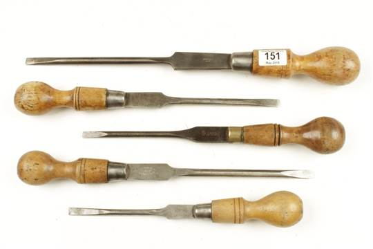 Five Turnscrews With London Pattern Handles G
