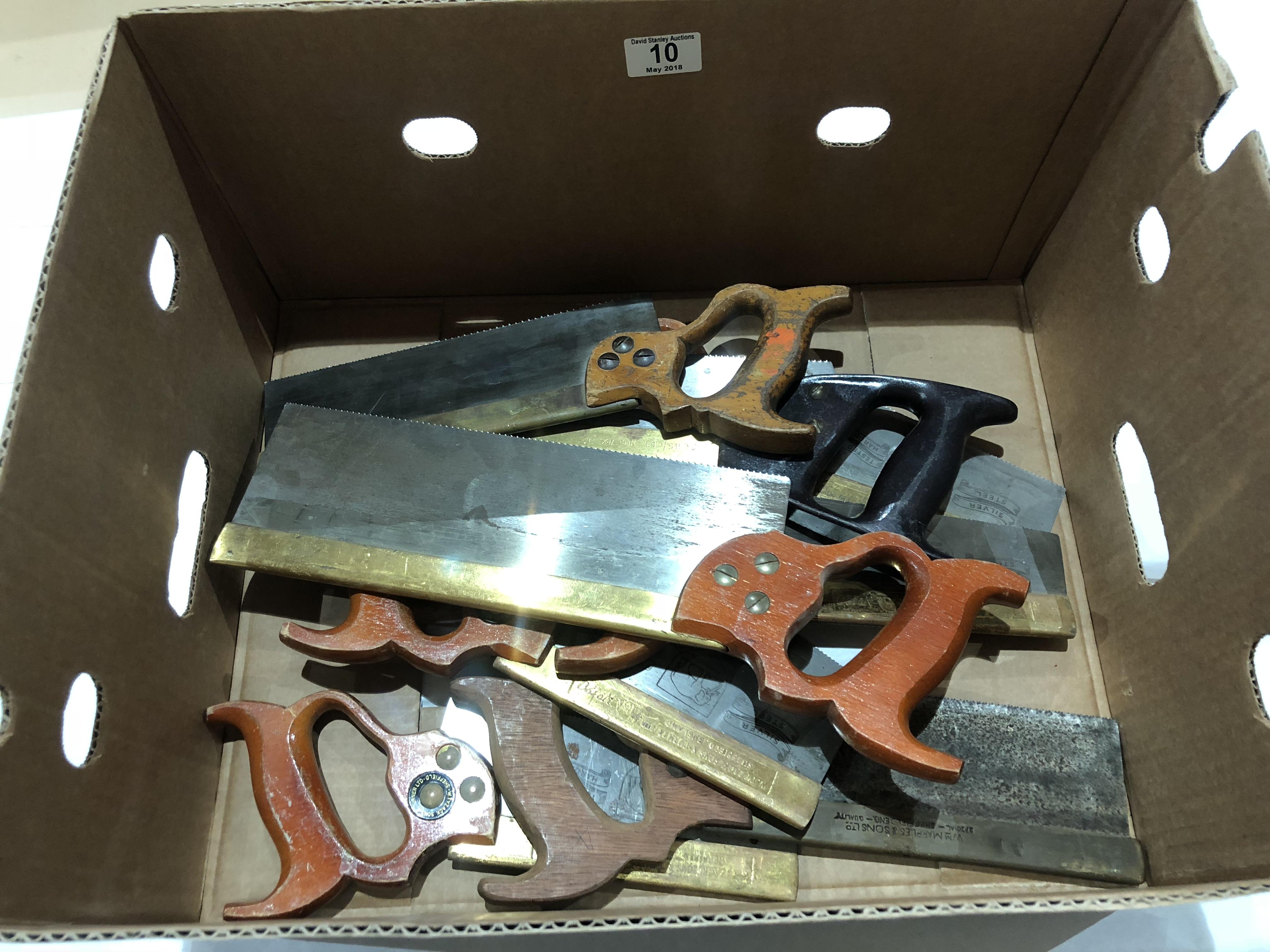 Lot 10 - Nine B/B saws