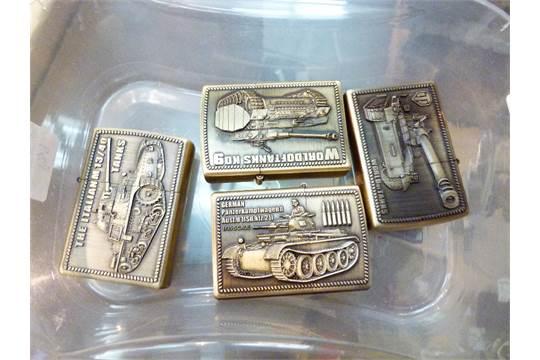 four world of tanks zippo style kantai lighters