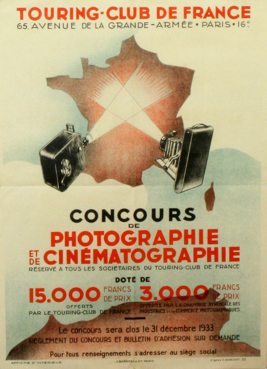 Advertising Poster Art Deco Photography Touring Club de France