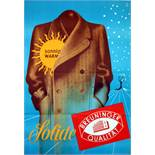 Advertising Poster Solide Winter Coat Mens Fashion