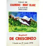 Advertising Poster Chamonix Mont Blanc Exhibition