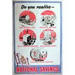Advertising Poster National Savings Coal Production Economy UK