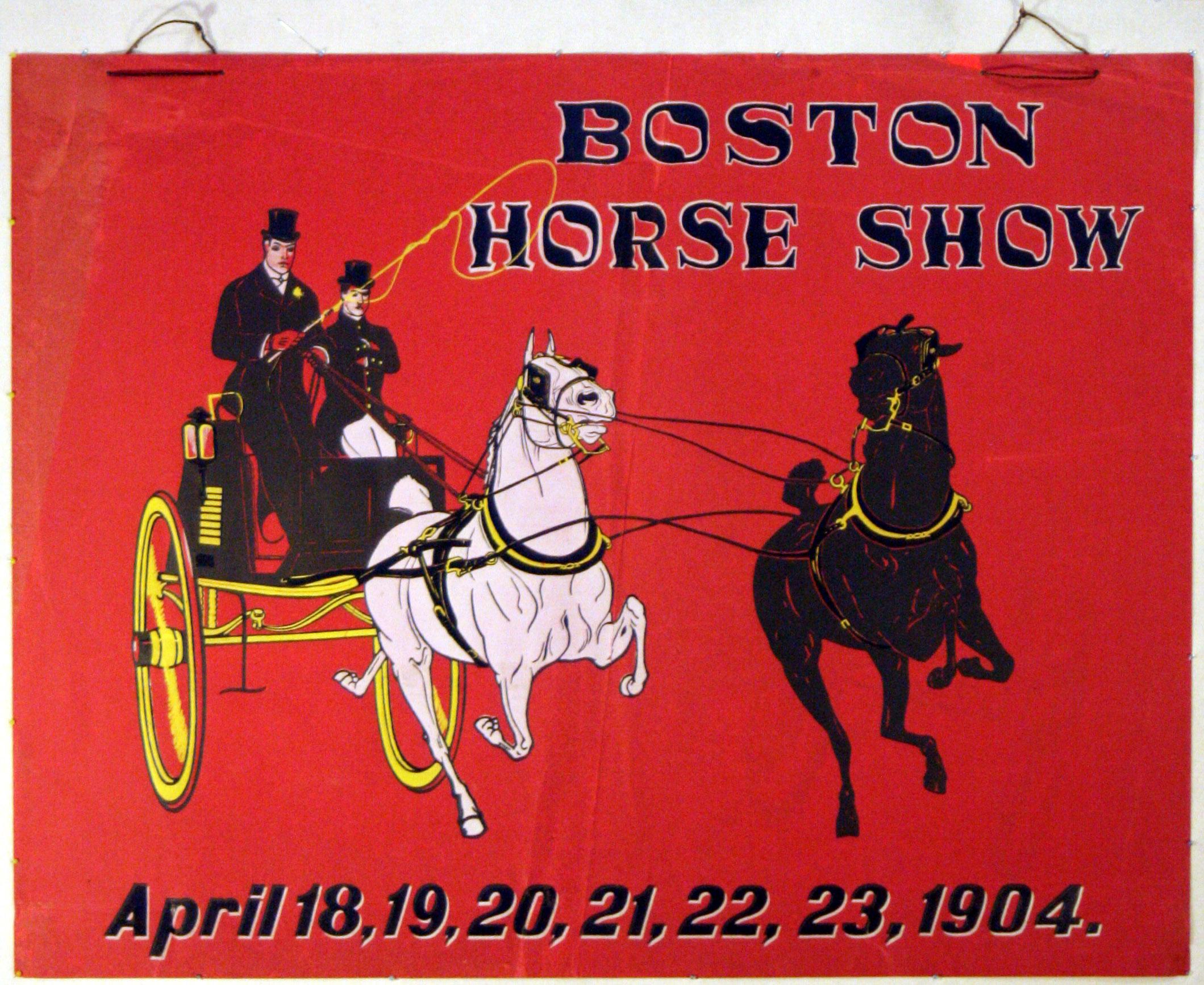 Advertising Poster Belle Epoque Boston Horse Show 1904