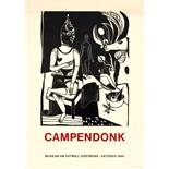 Advertising Poster Campendonk Art Exhibition The Seated Harlequin