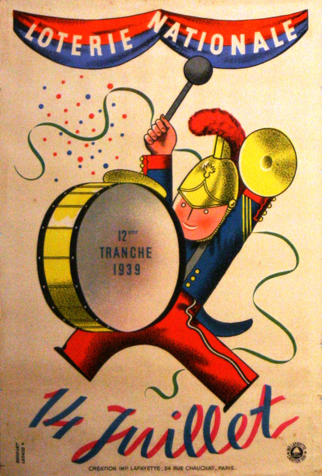 Advertising Poster Loterie Nationale France National Day