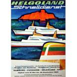 Advertising Poster Helgoland HAPAG Midcentury