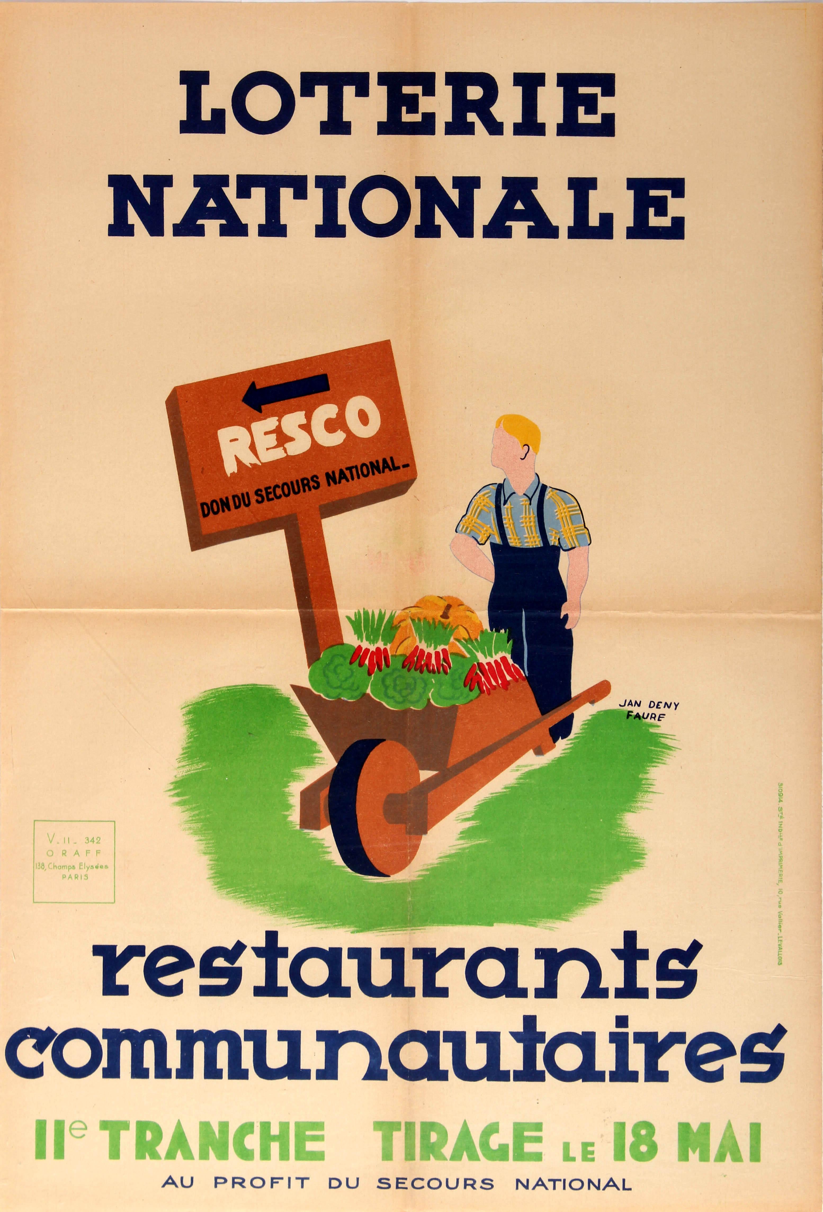 Advertising Poster Vegetable Growing Communal Restaurants Lottery