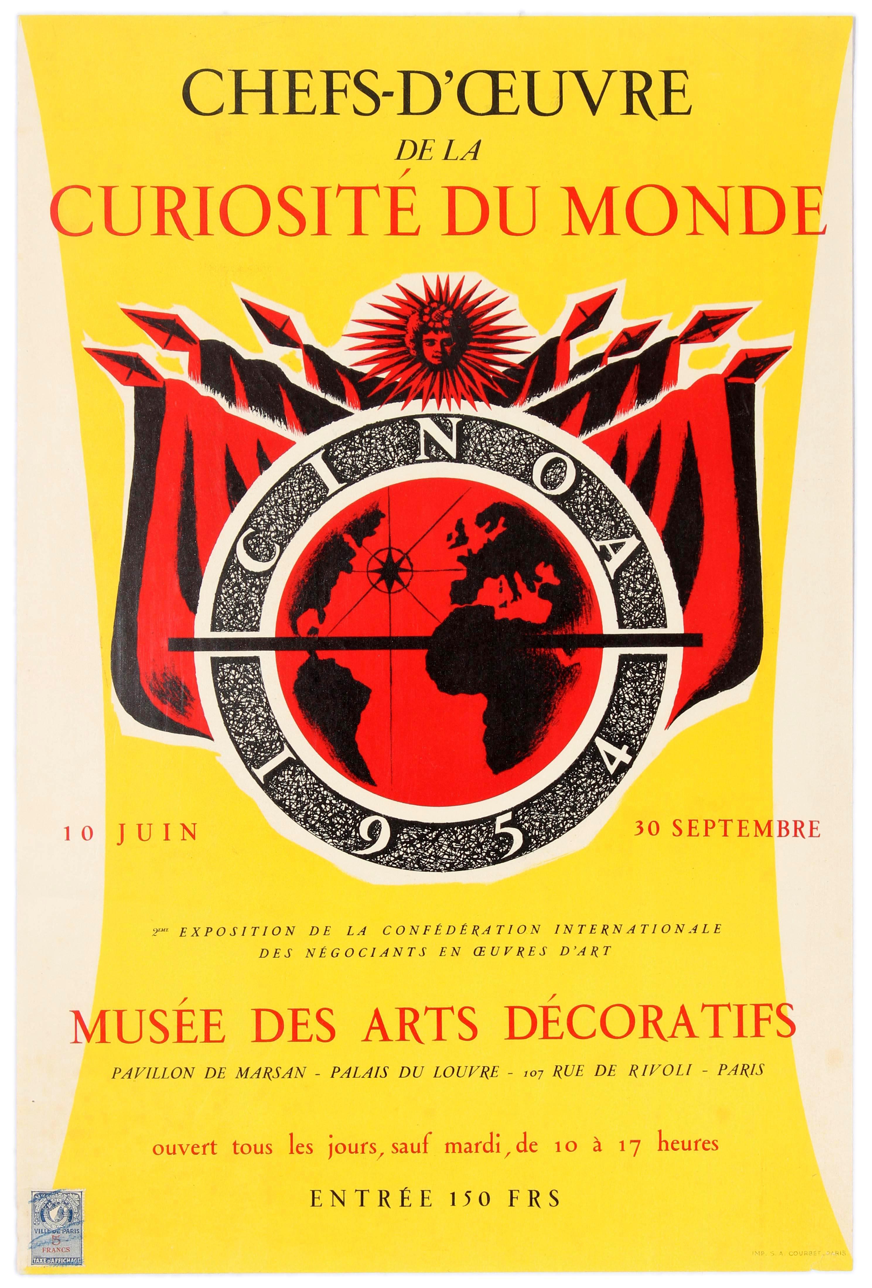 Advertising Poster Masterpiece Fair CINOA Art Antiques