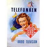 Advertising Poster Telefunken Radio Television