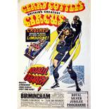 Advertising Poster Gerry Cottles Circus Khalil Oghaby Frank Bellamy