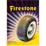 Advertising Poster Firestone Tires Champion De Luxe P300