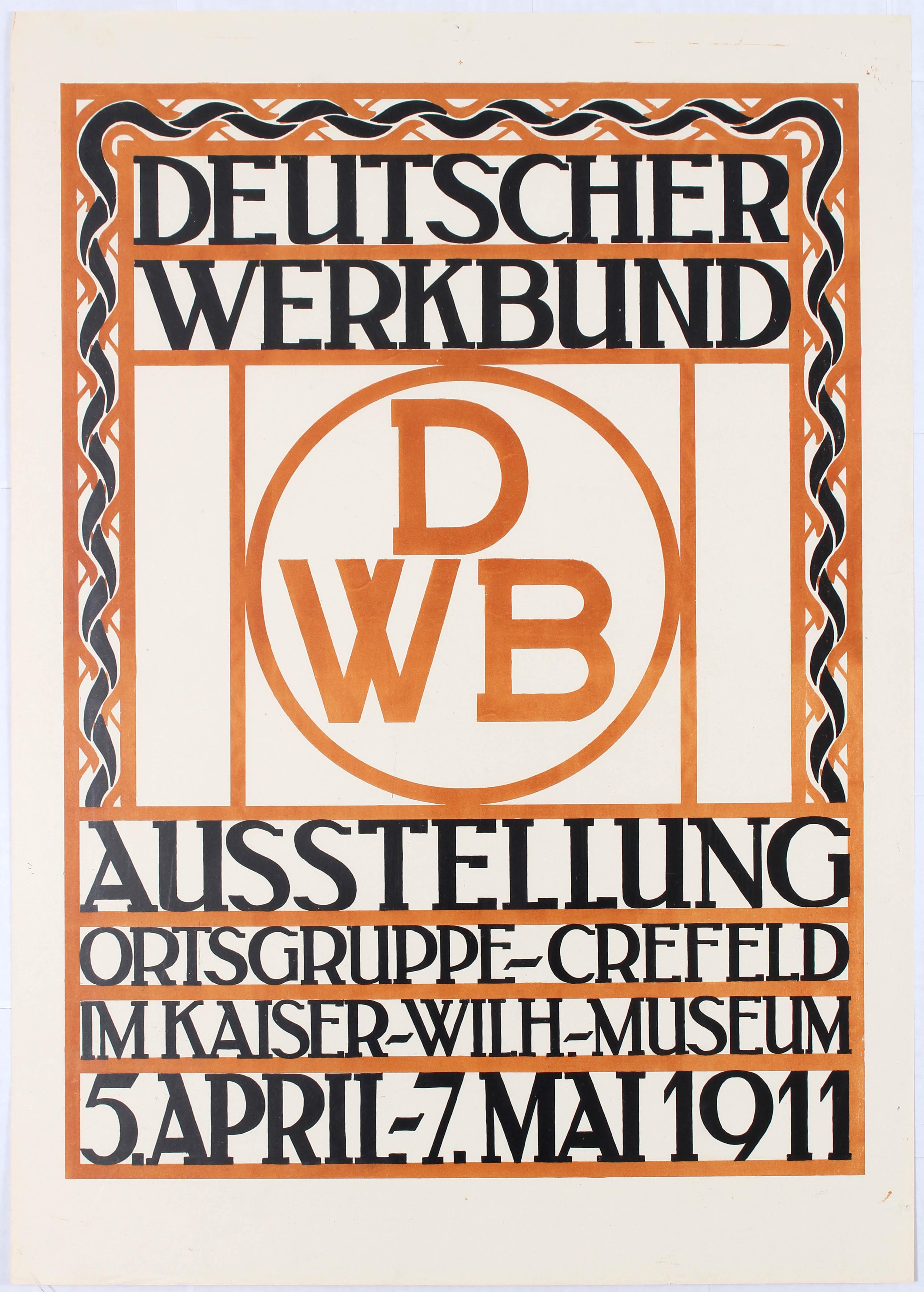 Advertising poster Deutscher Werkbund Exhibition Ehmcke