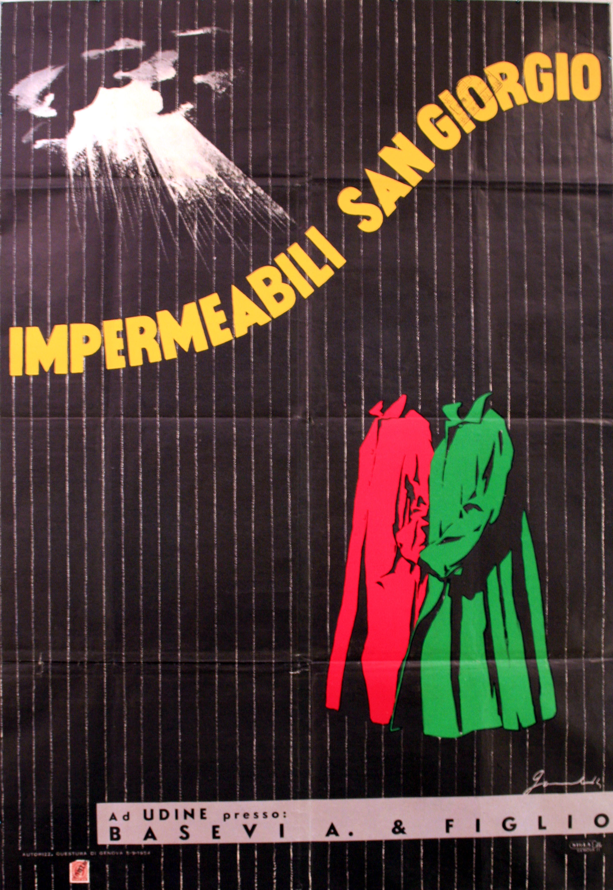 Advertising Poster San Giorgio Raincoats