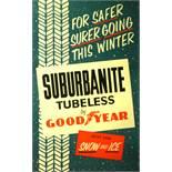 Advertising Poster Suburbanite Tubeless Tires Goodyear