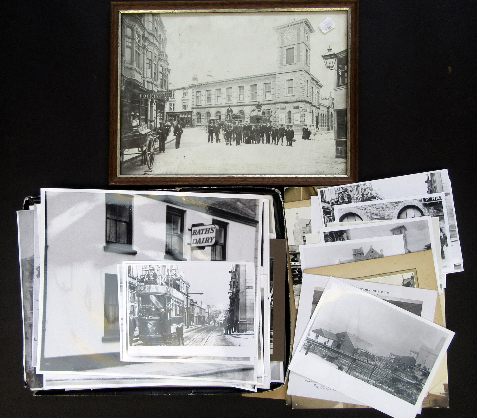 Lot 18 - A collection of photographic prints of old Camborne, tin mining etc.