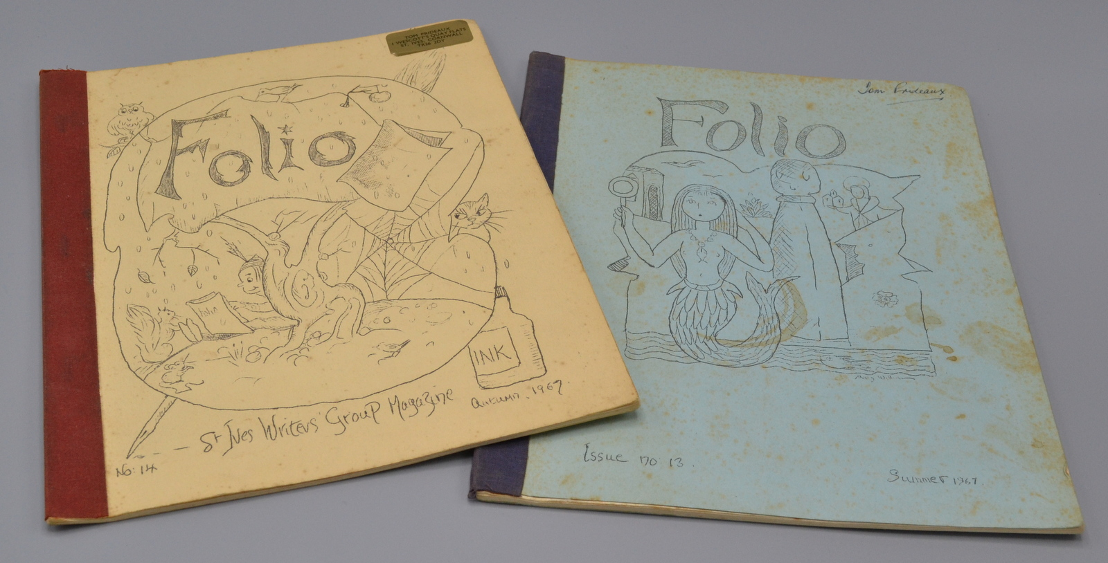 Lot 39 - Two copies of The St Ives Writers Group Magazine 'Folio' Summer and Autumn 1967.