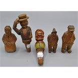 Lot 38 - Two ANRI style automaton bottle stoppers,