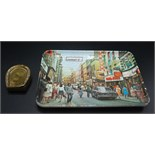Lot 17 - A brass horseshoe vesta case and a melamine Carnaby Street souvenir pin tray.
