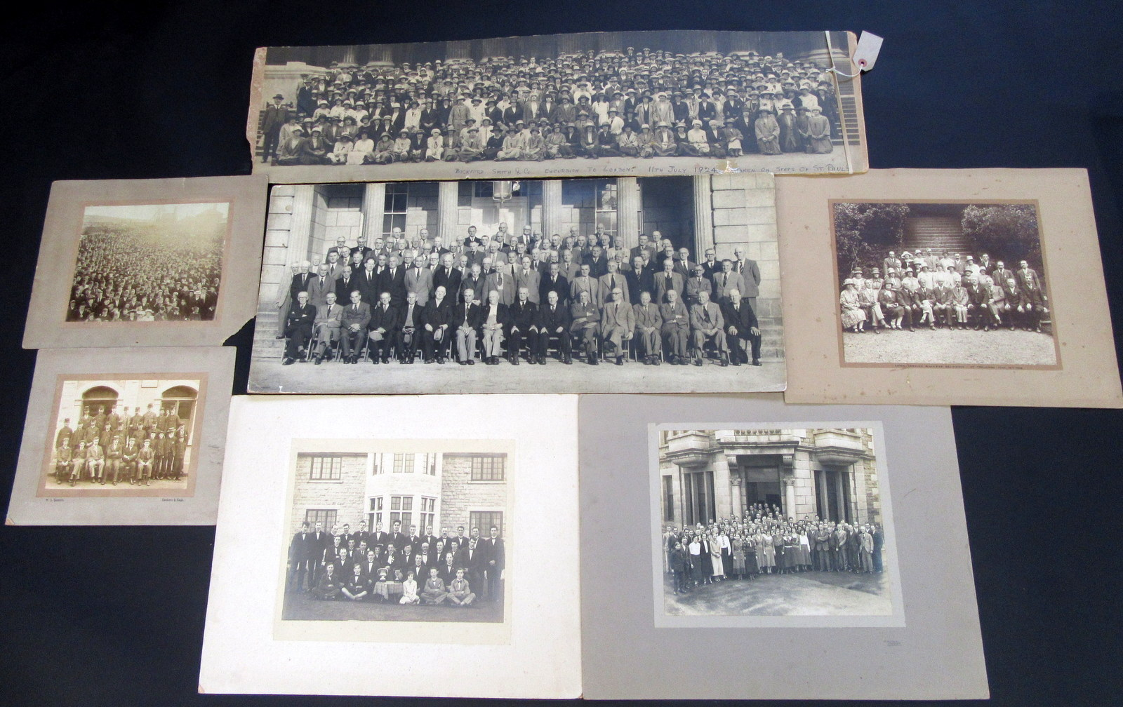 Lot 50 - A Burrow photograph showing a huge crowd by mine buildings,