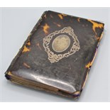 Lot 36 - A mid 19th century pique card case.