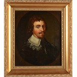 Lot 15 - An oil on panel portrait in 17th century style of a Carolean gentleman, 20 x 17cm.