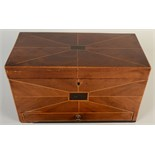 Lot 61 - A Regency inlaid mahogany box with a hinged lid above a drawer,