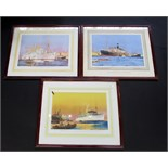 Lot 54 - A pair of shipping prints after Charles Dixon and Frank Mason,one shows British India S.