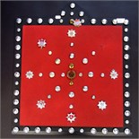 Lot 52 - A collection of fire brigade badges and buttons on a display board.