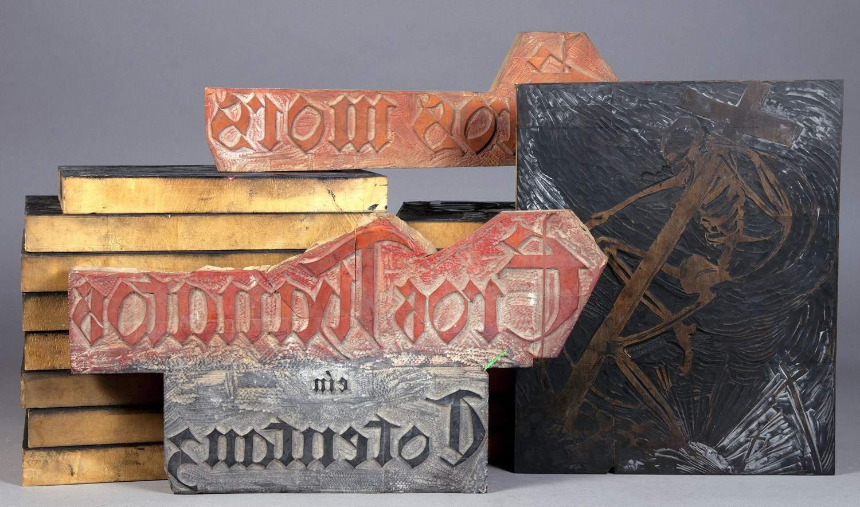 Arminius Hasemann. – Die graphischen Zyklen - Eros Thanatos. 18 Originalholzstöcke. Um 1920/21.