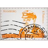 Klaus Peter Brehmer. Drei farbige Briefmarken-Linolschnitte. 1966/67. Signiert, teils datiert. I.