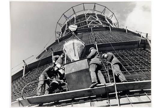 Fotografie Hans Joachim Spremberg Bau Des Berliner Fernsehturms
