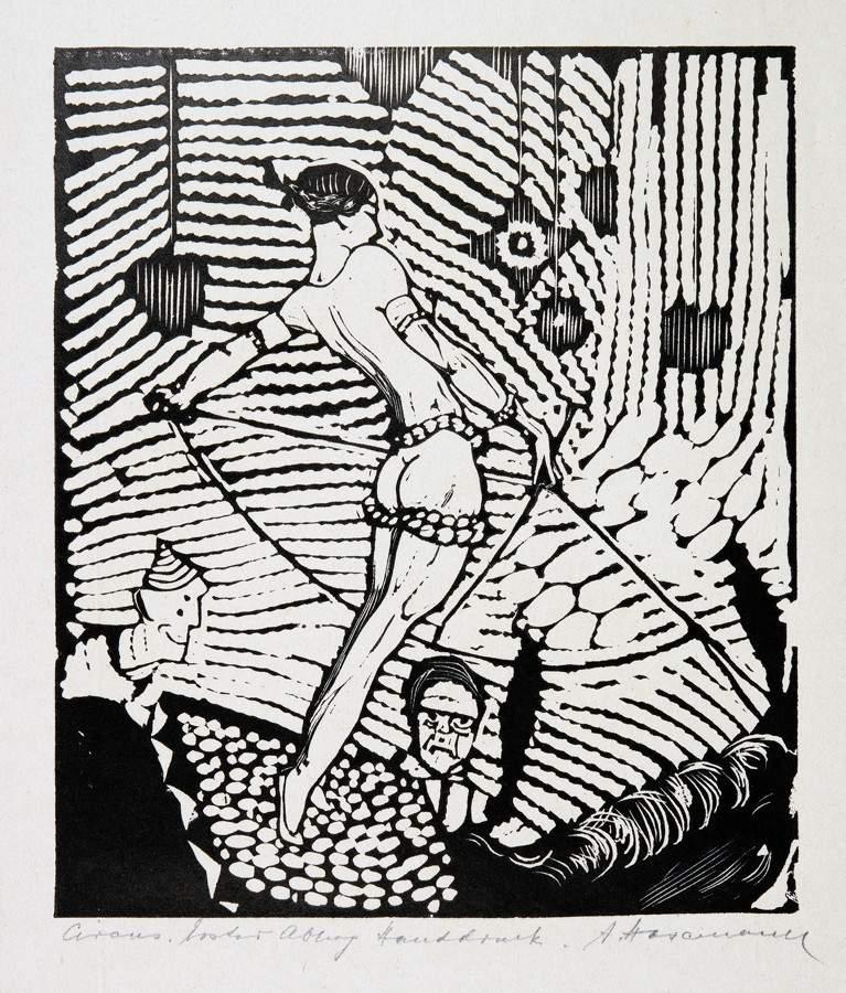 Arminius Hasemann. – Die graphischen Zyklen - Der Zirkus. 13 Holzschnitte. 1920. Elf signiert, - Image 5 of 5