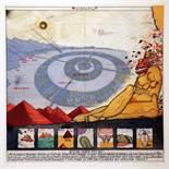 Uwe Bremer. Atlantis. 10 Radierungen, davon sechs farbige. 1976. 78,5 : 72,0 cm (Mappenformat).
