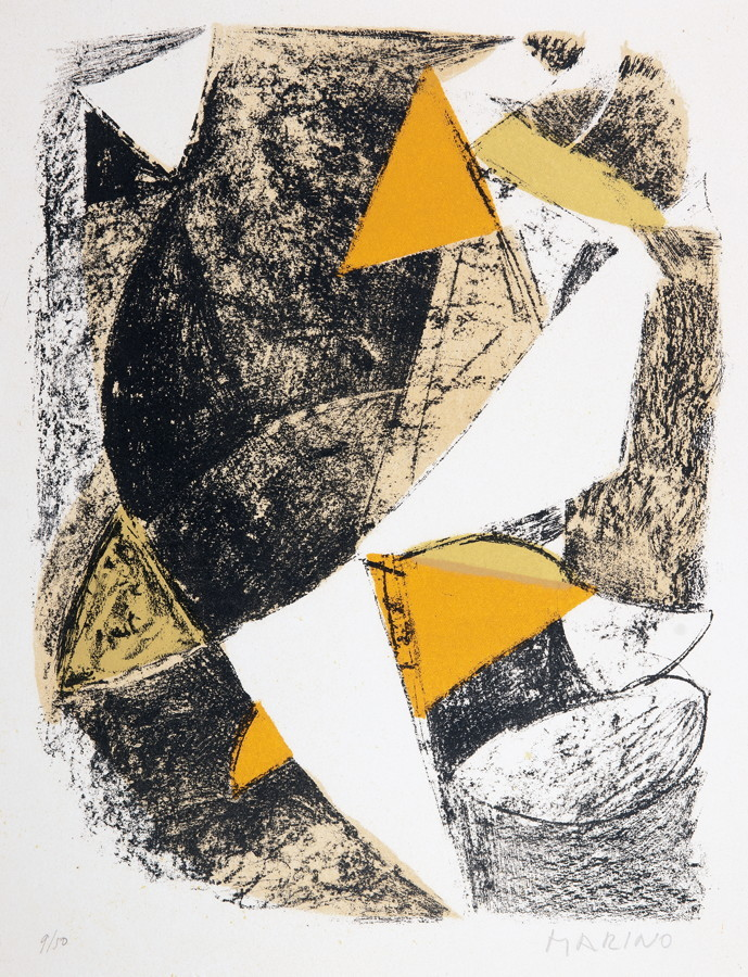 Marino Marini (1901–1980). Komposition (für XXe siècle 21). Farblithographie. 1963. 31,0 : 23,5