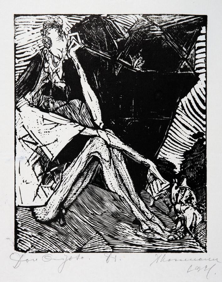 Arminius Hasemann. – Die graphischen Zyklen - Don Quijote von der Mancha, Ritter der traurigen - Image 4 of 5