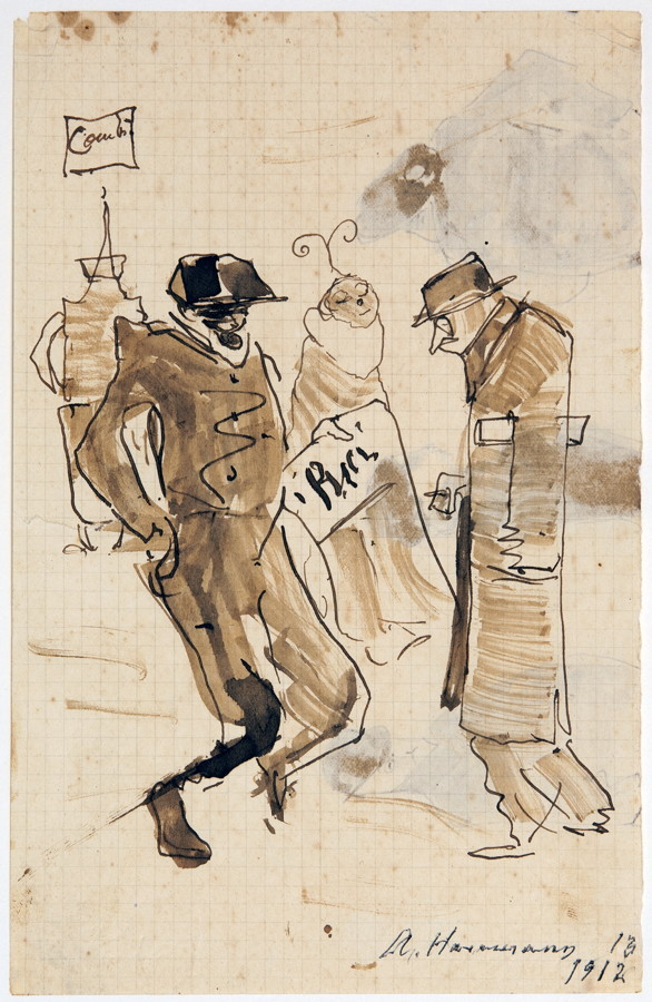 Arminius Hasemann – Die Zeichnungen - Paris. 13 Tuschfederzeichnungen, teils laviert. 1912/1913. - Image 3 of 5
