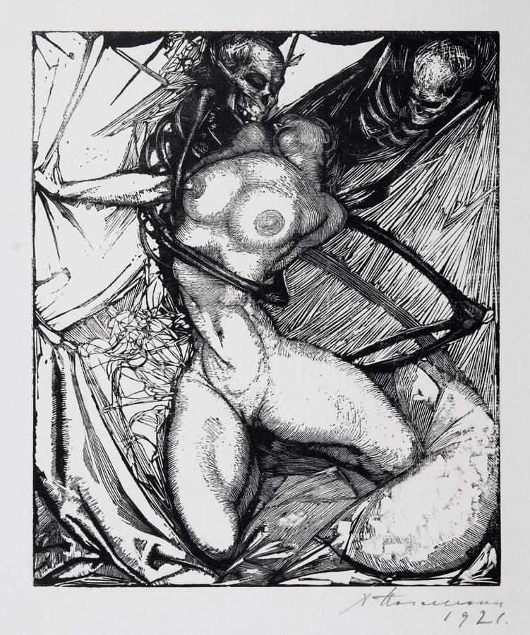 Arminius Hasemann. – Die graphischen Zyklen - Eros Thanatos – ein Totentanz. Zwölf Original - Image 3 of 4