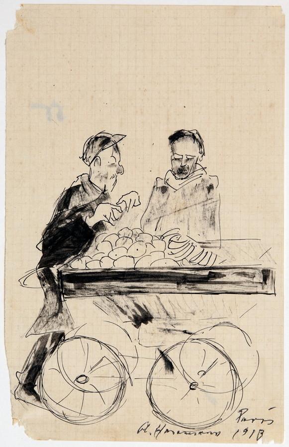 Arminius Hasemann – Die Zeichnungen - Paris. 13 Tuschfederzeichnungen, teils laviert. 1912/1913. - Image 2 of 5