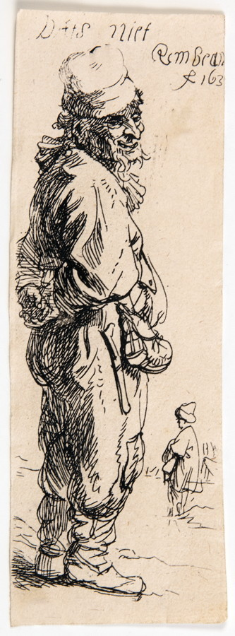 Rembrandt Harmensz. van Rijn. Peasant, replying »Dats niet«. Radierung. 1634. 11,0 : 3,8 cm. Blatt 2