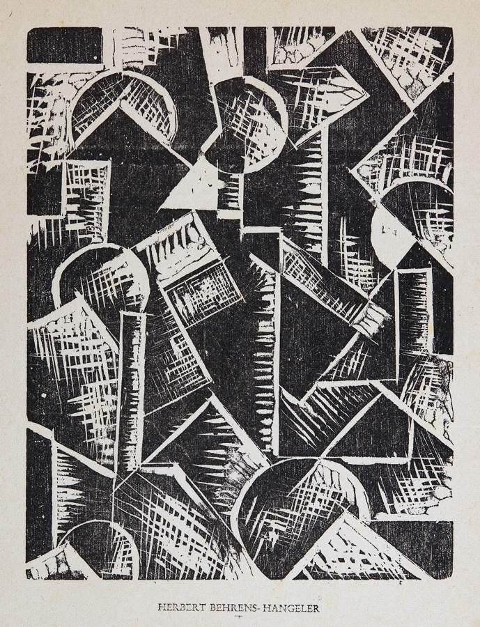 Het Overzicht - A. C. Willink (1900–1983). Komposition. Holzschnitt. 24,0 : 14,0 cm (34,0 : 23,8 - Image 2 of 3