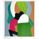 Willy Meyer[-Osburg]. 6 mehrfarbige Linolschnitte. 1964. Ca. 48 : 41 cm (64,5 : 48,2 cm). Signiert