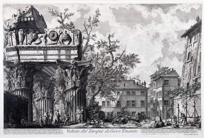 Giovanni Battista Piranesi. Veduta del Tempio di Giove Tonante. Radierung. 1756. 37,8 : 59,0 cm (